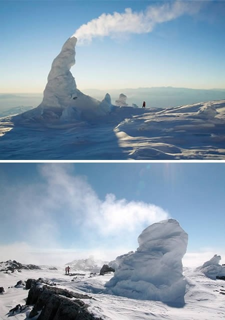 Photo:  icy-towers-sul-monte-erebus-antartide
