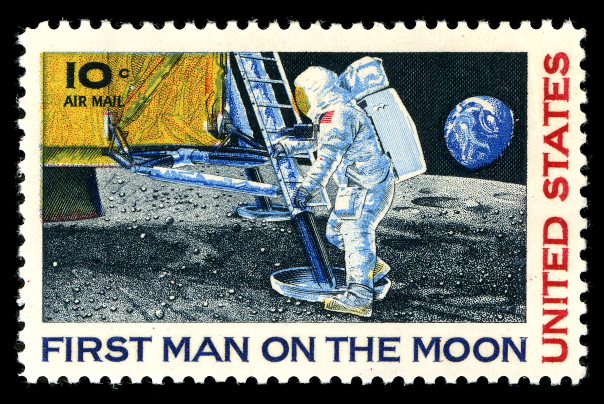 an introduction to the history of the man on the moon Images of the moon and historical news footage of the first man landing on the moon.