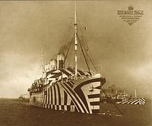 Photo:  Dazzle ships. Made around WW1 to confuse onlookers about the ships' direction, size, and general orientation.