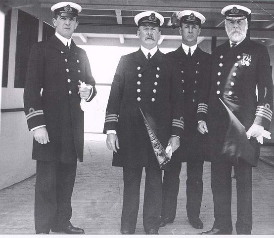 Photo:  Crew Group Of Titanic (Captain on the right)