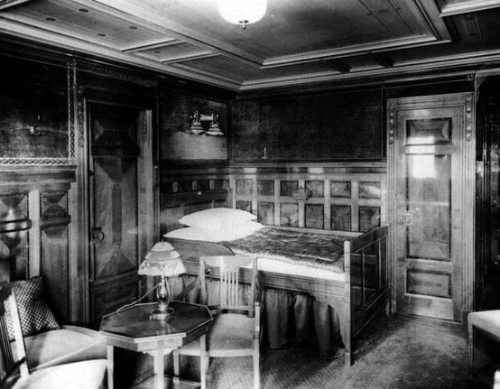 Photo:  First class accommodations aboard the RMS Titanic
