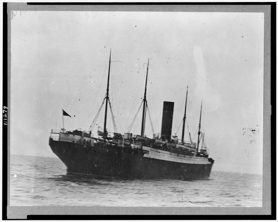 Photo:  The Carpathia with Titanic lifeboats