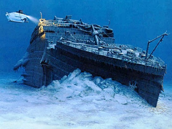 Photo:  The Titanic in the bottom of the sea