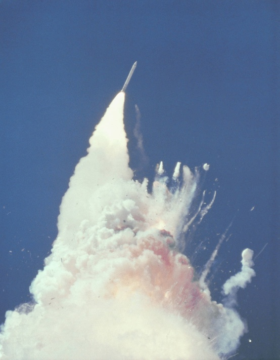 Photo:  The Challenger Shuttle Disaster 2