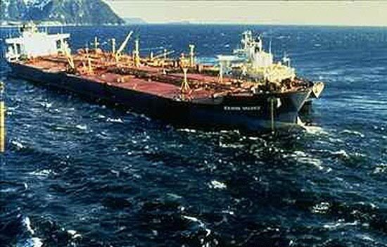 Photo:  Exxon Valdez ($ 2.5 Billion) The Exxon Valdez oil spill occurred in the Prince William Sound, Alaska, on March 23, 1989