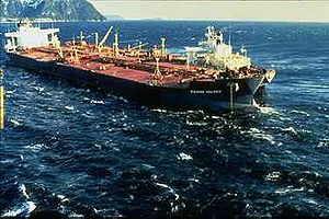 Photo:  Exxon Valdez caused the 2nd largest oil spill in history dumping 1.5m barrels of oil into Prince William Sound in 1989