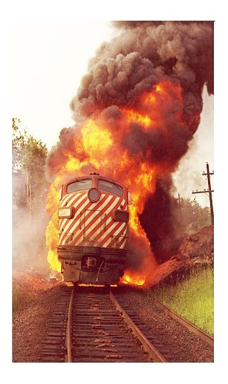 Photo:  Train fire
