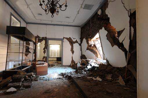 Photo:  Chile earthquake damage