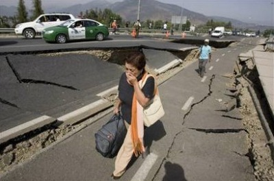 Photo:  Chile earthquake, Magnitude, 2010