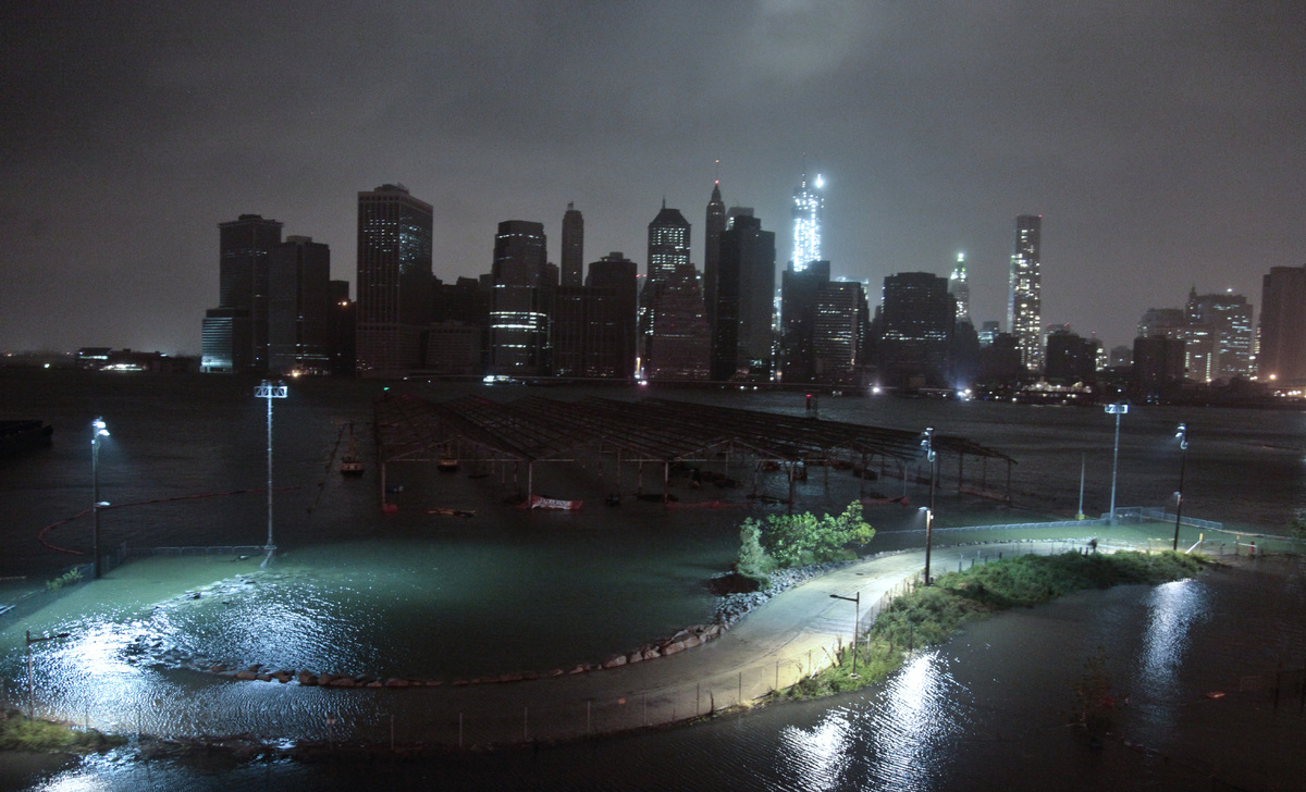 Photo:  Lower Manhattan goes dark during superstorm Sandy, Oct. 29, 2012