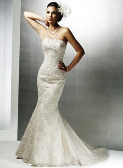 Photo:  fitted wedding dresses