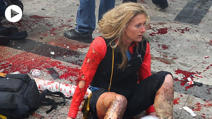 Photo:  Boston Marathon bombing