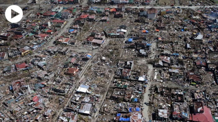 Photo:  Typhoon Haiyan devastates the Philippines