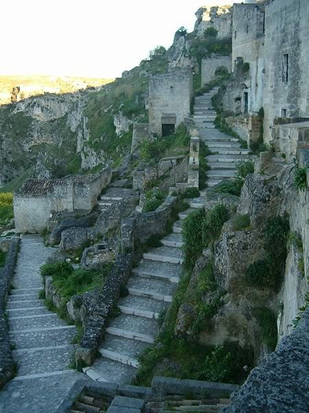 Photo:  Cave dwellings (Sassi di Matera,Italy)