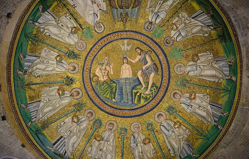 Photo:  Inside the Baptistery of the Arians (Battistero degli Ariani)
