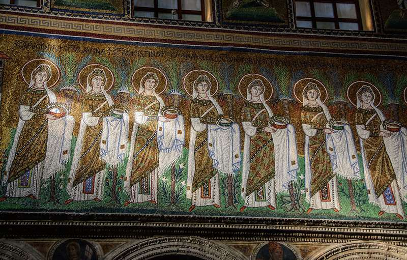 Photo:  mosaics of the Basilica di Sant'Apollinare Nuovo
