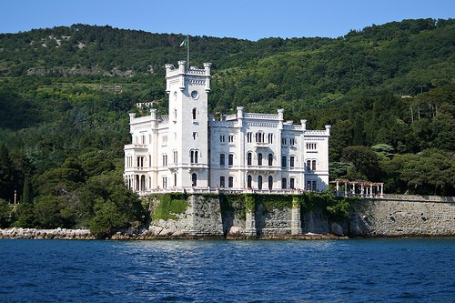 Photo:  Miramare Castle in Trieste, Italy