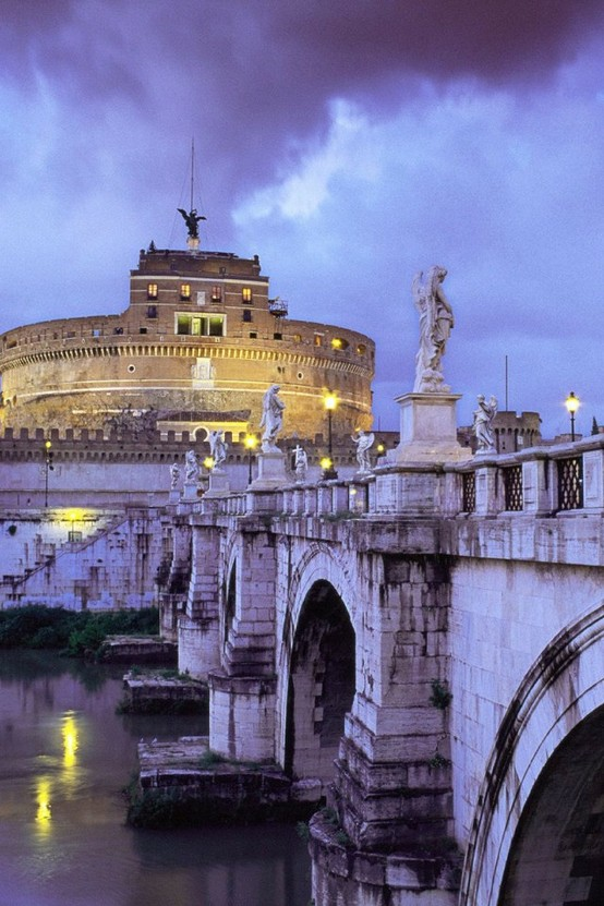 Photo:  Castel Sant'Angelo and Bridge, Rome, Italy