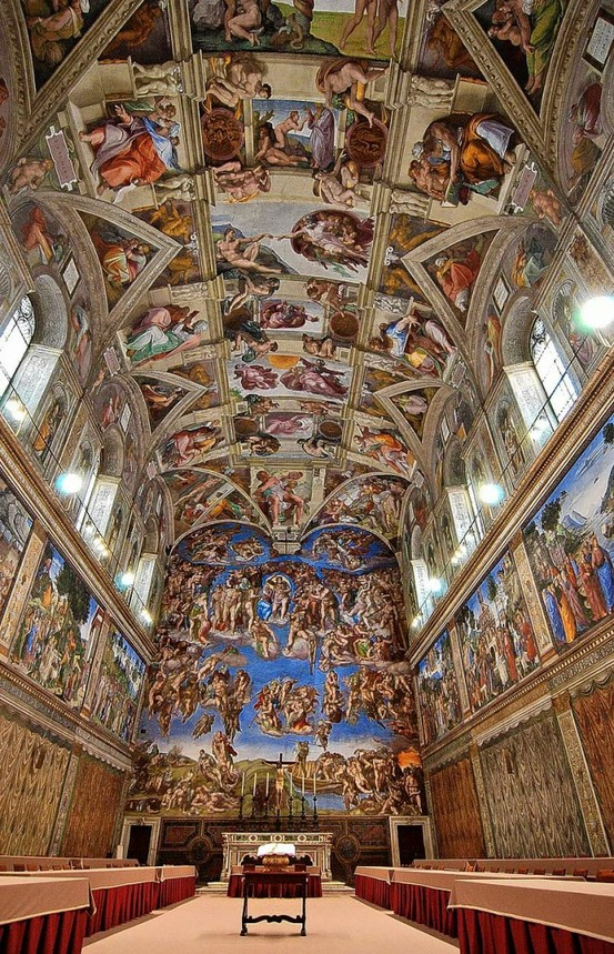 Photo:  Michelangelo's Sistine Chapel