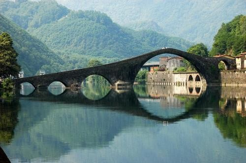 Photo:  14th century Devil's Bridge, Lucca, Italy