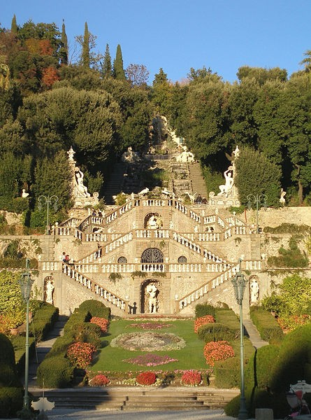 Photo:  A typical Italian garden at Villa Garzoni, near Pistoia