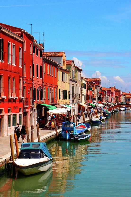 Photo:  Murano is series of islands linked by bridges in Venetian Lagoon, northern Italy