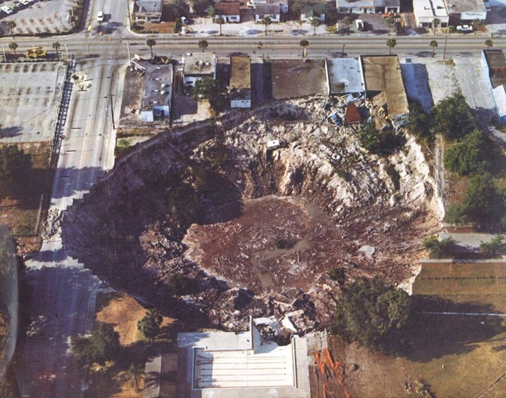 Photo:  Famous Winter Park sinkhole! Was actually after Disney in 1981