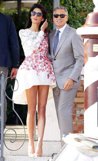 Photo:  Amal Alamuddin and George Clooney 06