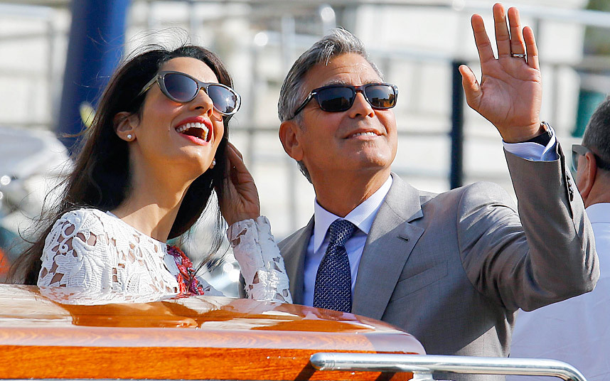 Photo:  Amal Alamuddin and George Clooney 08