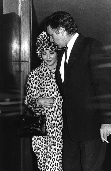 Photo:  Elizabeth Taylor with Richard Burton