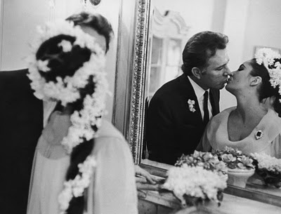Photo:  Richard Burton & Elizabeth Taylor on their wedding day March 15th 1964