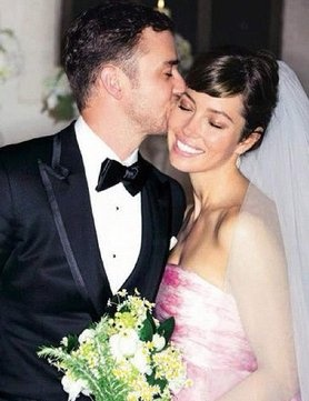 Photo:  Jessica Biel and Justin Timberlake on their wedding day