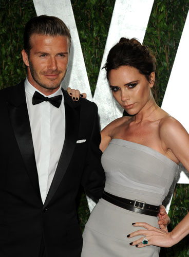 Photo:  Victoria Adams and David Beckham 1