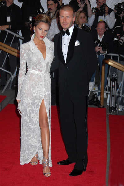 Photo:  Victoria Adams and David Beckham 2