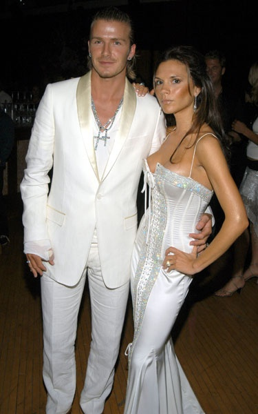 Photo:  Victoria Adams and David Beckham 2003