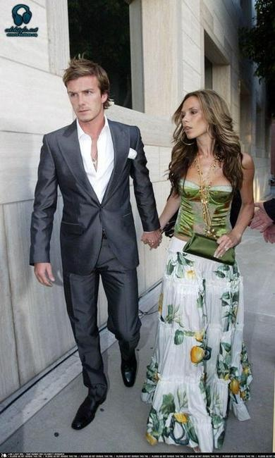Photo:  Victoria Adams and David Beckham 5