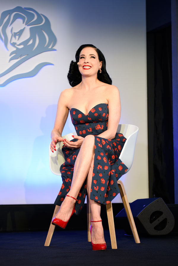 Photo:  Dita Von Teese cannes