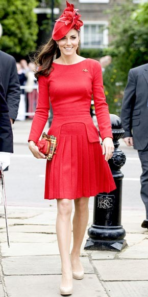 Photo:  Catherine Middleton in Alexander McQueen 2