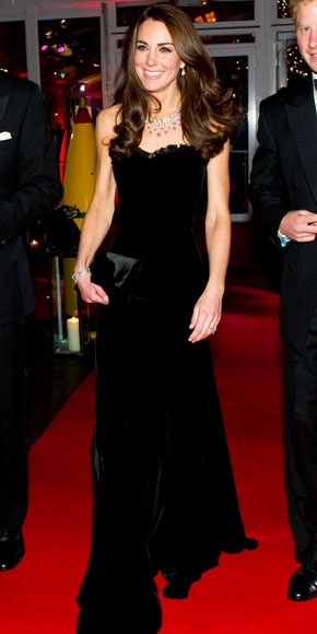 Photo:  Catherine Middleton in Alexander McQueen 3