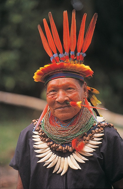 Photo:  Amazonia, Ecuador Shaman