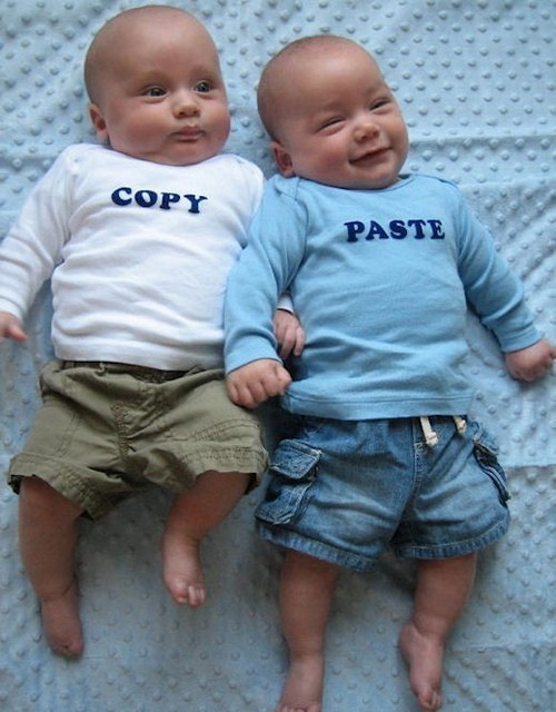 Photo:  Copy paste twin shirts