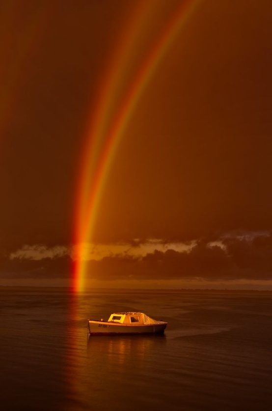 Photo:  Reflection Rainbow Over Swan Bay, Victoria