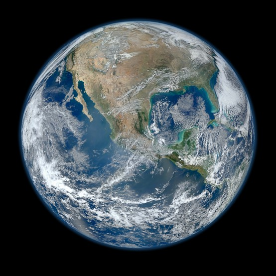 Photo:  image of the Earth taken from the space