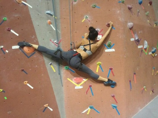 Photo:  Climbing makes you flexible