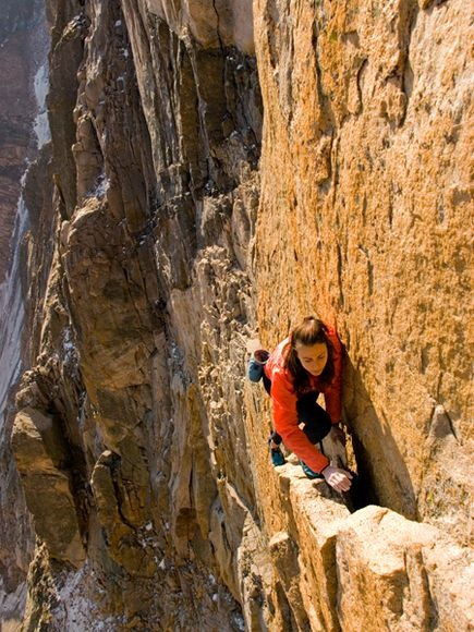 Photo:  Climbing the Diamond, Longs Peak, Colorado