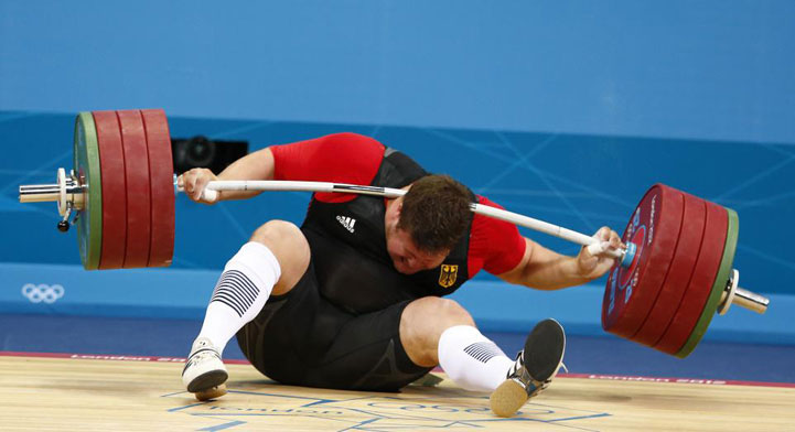 Photo:  German weightlifter Matthias Steiner, weightlifter