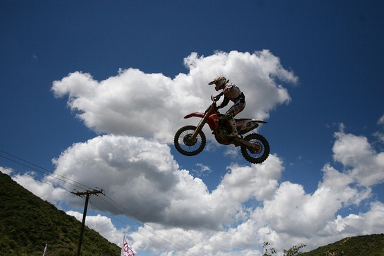 Photo:  motocross  clouds