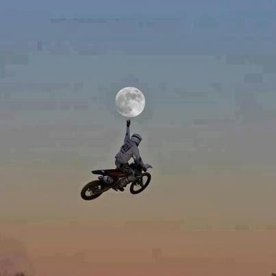 Photo:  motocross  moon