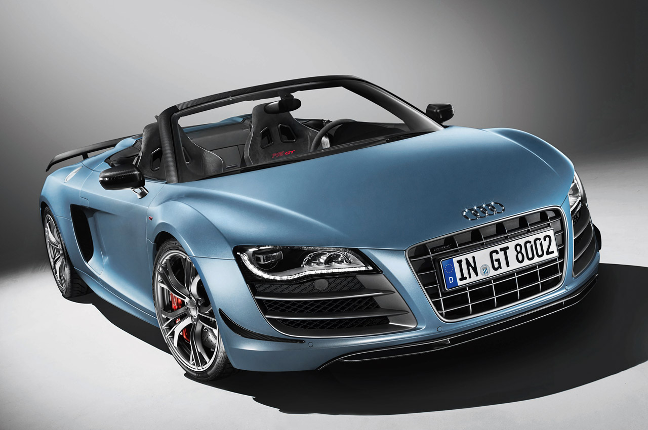 Photo:  blue-audi-r8-gt-spyder-wallpaper