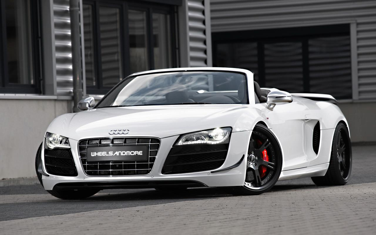 Photo:  white-audi-r8-gt-spyder-wallpaper